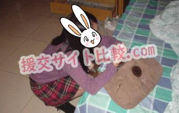 長野県の援交体験で化粧直しする彼女の画像