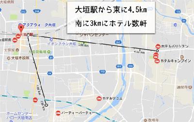 大垣駅付近のラブホテルの画像