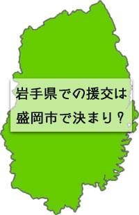 岩手県の地図の画像