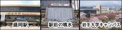 盛岡駅と周辺地域の画像