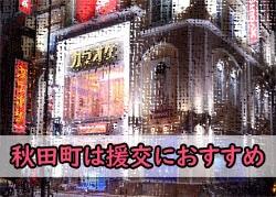 徳島の繁華街の秋田町の風景画像