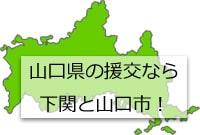 山口県の地図の画像
