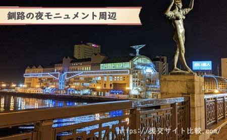 釧路の援交にオススメの待ち合わせスポット「釧路の夜モニュメント」の画像