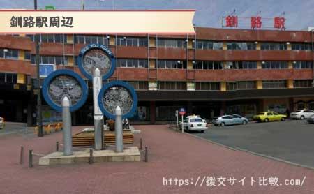 釧路の援交女性のナンパスポット釧路駅周辺の画像