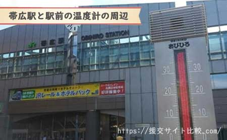 帯広の援交にオススメの待ち合わせスポット「帯広駅の温度計」の画像