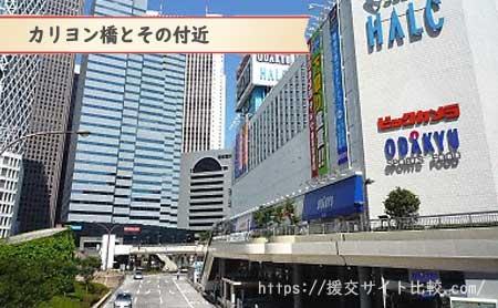新宿の援交にオススメの待ち合わせスポット「カリヨン橋」の画像