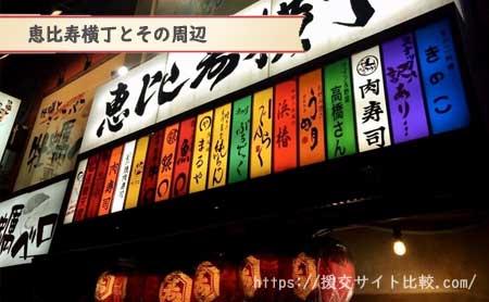 恵比寿駅周辺の援交女性ナンパスポット「恵比寿横丁とその周辺」の画像