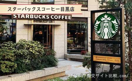 目黒駅周辺の援交女性ナンパスポット「スターバックスコーヒー目黒店の周辺」の画像