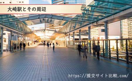 大崎駅周辺の援交女性ナンパスポット「大崎駅とその周辺」の画像