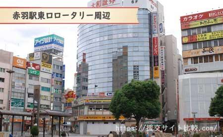 東京都北区の援交にオススメの待ち合わせスポット「赤羽駅東口ロータリー周辺」の画像