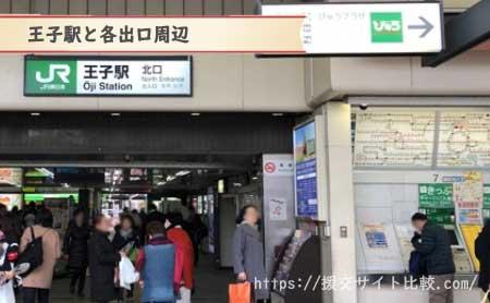 王子駅周辺の援交女性ナンパスポット「王寺駅と各出口周辺」の画像